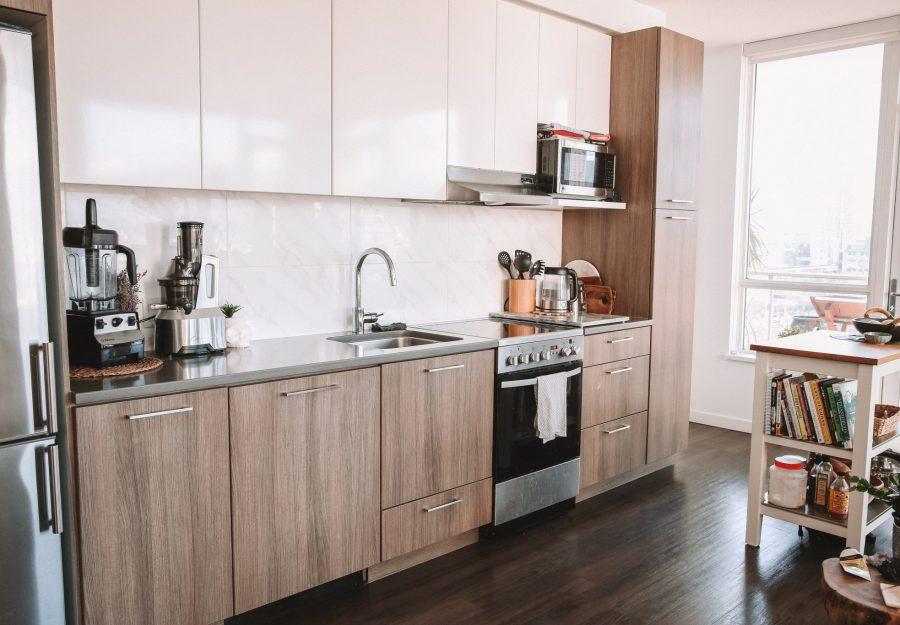 Apartment Style kitchen, bright