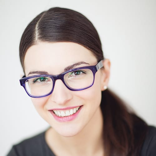 Desiree Nielson wearing glasses