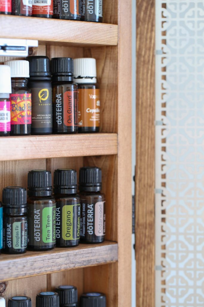 Essential oils in cabnet