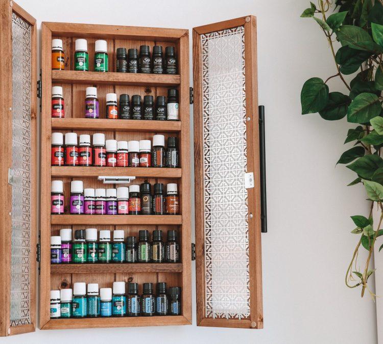 Karissa Pukas, Essential Oils Cabinet with various brands