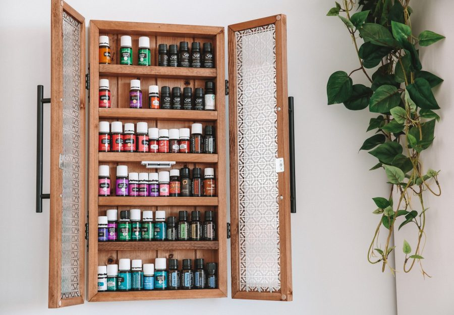Karissa Pukas, Essential Oils Cabinet with various brands