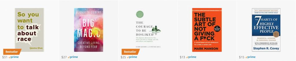 Best selling self help books on Amazon