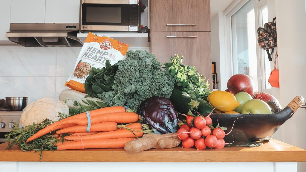 Fresh Vegetables on a counter