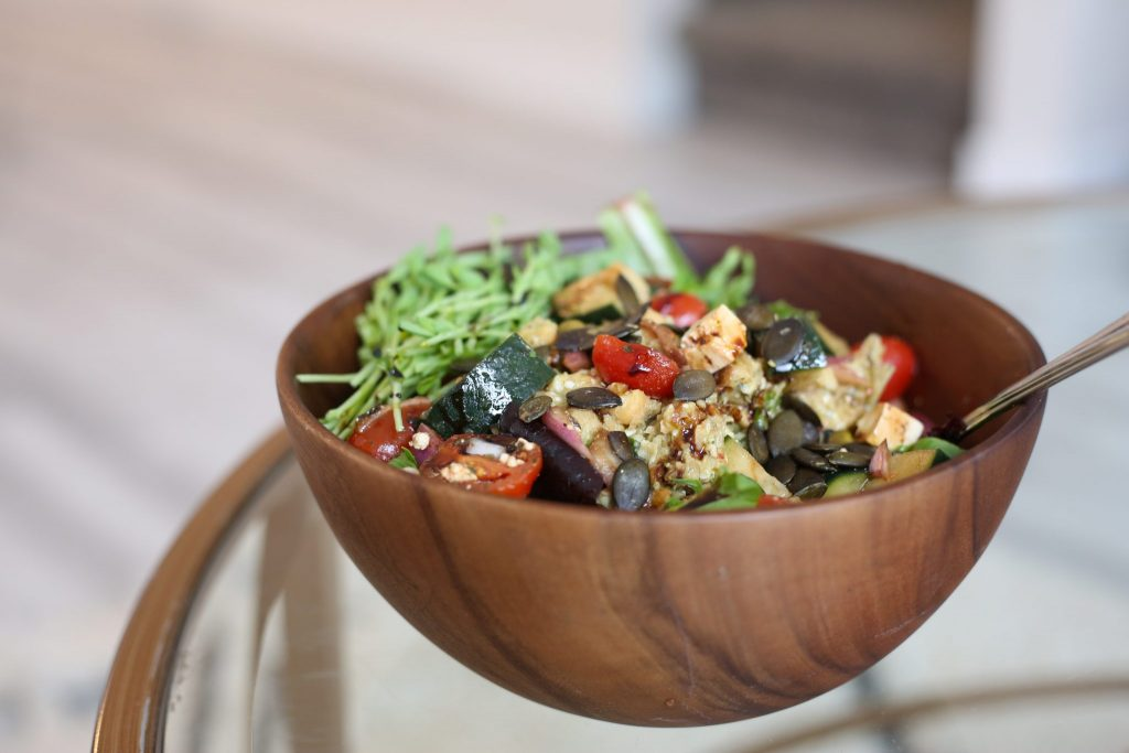 Salad Bowl with greens
