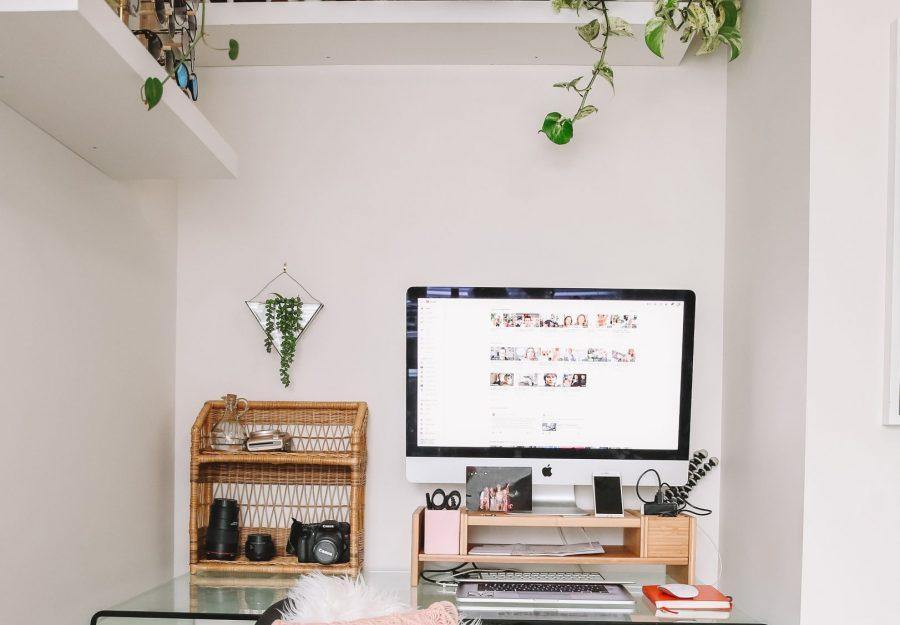 Karissa's desk set up
